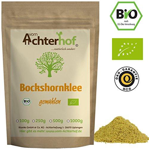Bockshornklee gemahlen BIO (250g) | Bockshorn-Tee| Bockshornkleesamen Pulver | Ideal als Tee oder Gewürz | Fenugreek Seeds Powder Organic