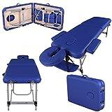 Massage Imperial - tragbare Profi-Massageliege Knightsbridge - 5 cm Schaum - Aluminium - 10 kg - Blau