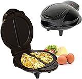 800-1000W Electric Non Stick Omelette Maker Frying Pan Egg Cooker Breakfast Black (Black)
