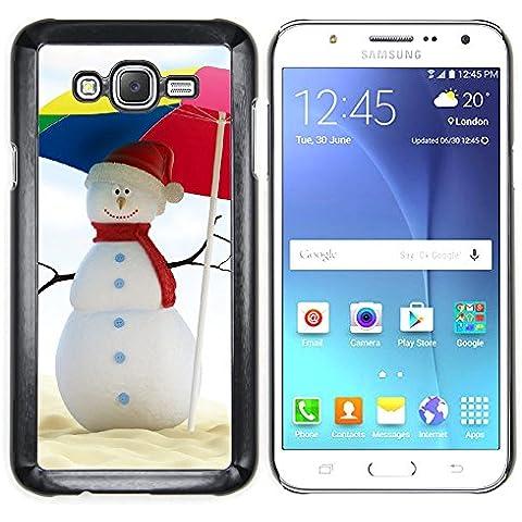 Samsung Galaxy J7 (2016) / J710 , Cassa Cover Guscio Di Plastica (Estate del pupazzo di neve)