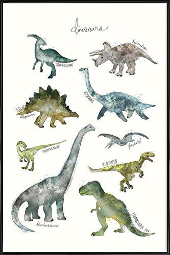 JUNIQE® Bild mit Rahmen 30x45cm Dinosaurier Kinderzimmer & Kunst für Kinder - Design