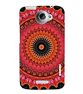 printtech Abstract Pattern Back Case Cover for HTC One Max Dual SIM