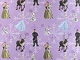 Baumwollstoff Disney, Elsa lavendel, Meterware ab 0,5 m /