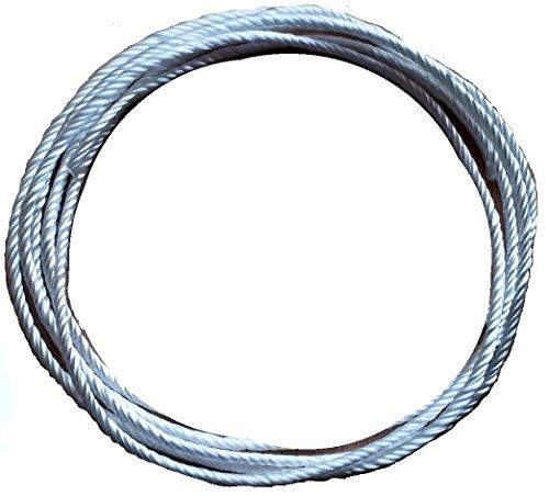 Geflochtene Silikatschnur Ø 5,0mm / Länge: 2 Meter (Grundpreis: EUR 3,40/m) sehr hochwertige und langlebige Faser aufgrund hoher Hitzebeständigkeit weit über 1300°C/Silica rope wick