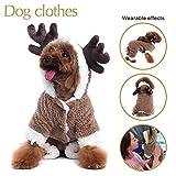 Renna design Dog Christmas vestiti maglione con cappuccio cucciolo tuta Outwear abbigliamento per cani Chirismas