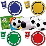 * XXL-Großkonfetti FUSSBÄLLE mit 24 großen Konfetti-Teilen * für eine Mottoparty oder Kindergeburtstag // Party Kinder Konfetti Deko Mottoparty Fussball WM EM - 2