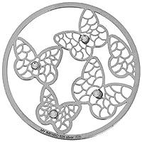 MY iMenso Schmetterlinge Cover Insignie Silber 33 mm 33-1132