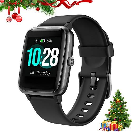 Fitpolo Salute Fitness Watch, Activity Tracker con 1.3'' Colore Touch Screen, Cardiofrequenzimetro, Monitoraggio del Sonno, Contacalorie,Pedometro,Impermeabile Orologio per Uomo Donna Bambini (Nero)