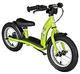 Bikestar Bicicletta senza pedali 3-4 anni per bambino et bambina ★ Bici senza pedali bambini con freno 12 pollici classico ★ Verde