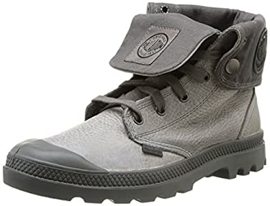 Palladium Baggy Leather H, Boots homme - Gris (712 Moss Gray/Metal), 41 EU