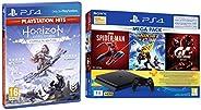 PS4 1TB Slim Bundled with Spider-Man, GTaSport, Ratchet & Clank And PSN 3Month&Horizon: Zero Dawn - Co
