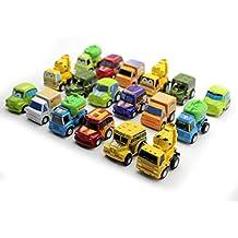 HuntGold 1X 6pcs Multicolor Mini Tire Car Model Juguetes educativos Regalos para niño (al azar)