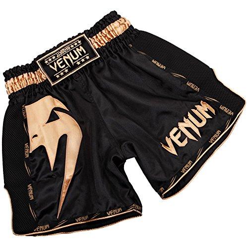 Venum Herren Giant Thaibox Shorts, Schwarz/Gold, L (Boxing Equipment Kinder)