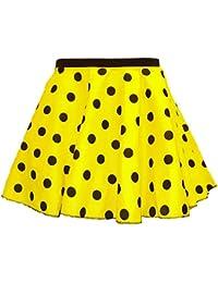 Adultos Polka dot falda de Rock N Roll 50/60de estilo con cuello corbata 17diferentes colores 17cm de largo