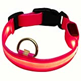 REXSONN® Hunde Halsband Halsbänder Hundehalsbänder Hundehalsband Polyester Nylon Hundegeschirr & Hundeleinen LED Pet Dog collar Harness Leash