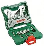 Bosch X-Line - Maletín de 33 unidades para taladrar y atornillar, color verde