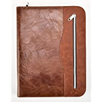 Arpan Soft Touch Conference Folder Portfolio A4 With Calculator & Pad - Brown