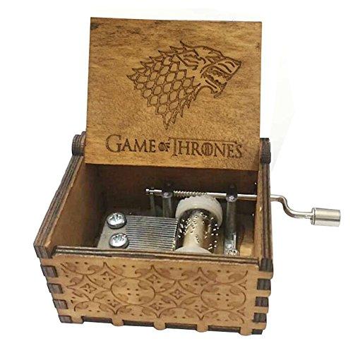 Antik geschnitzt Game of Thrones Hand Kurbeln Holz Musik Box für Home Dekoration, Handwerk, Spielzeug, Geschenk Game of Thrones B - Hand Geschnitzt Antik