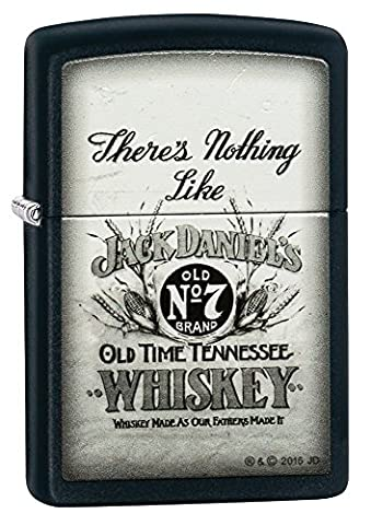 Zippo Jack Daniel's There's Nothing Like Windproof Lighter - Black