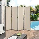 [pro.tec] Pared divisoria / Biombo - 215 x 170 cm - Color de arena - Biombo exterior - Mampara -...