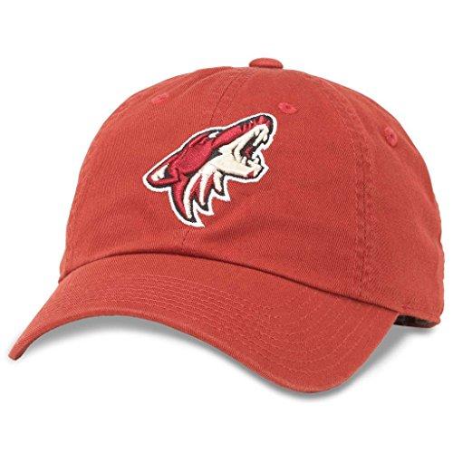 American Needle Blue Line NHL Team Dad Hat, Arizona Phoenix Coyotes, Kardinal Red (40742A-PCO) -