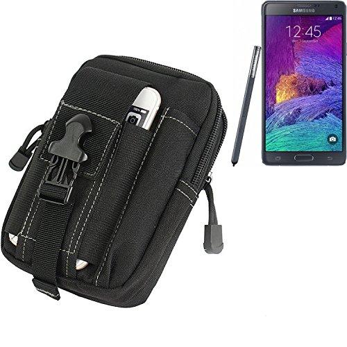 sche für Samsung Galaxy Note 4 Gürteltasche Schutzhülle Handy Hülle Smartphone Outdoor Handyhülle schwarz Zusatzfächer ()
