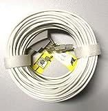20m Original Telekom DSL Kabel | VDSL Kabel für IP Anschluss, Speedport Hybrid, Fritzbox | TAE-RJ45 Kabel für alle DSL / VDSL Router | 20m TAE Anschlusskabel Router DSL / VDSL | RJ45 zu TAE-F Stecker Test