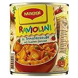 Maggi Raviolini in Tomatensauce (vegetarische Mini-Teigtaschen in fruchtiger Sauce, mit buntem Gemüse, für Topf und Mikrowelle) 1er Pack (1 x 800g)
