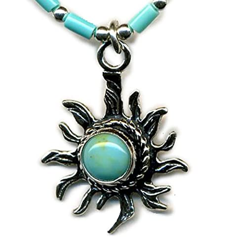 Handcrafted Sun Necklace Indian Navajo Motif Jewelry