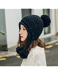 efc46029f87f MAOCAP Chapeau Femme Hiver Automne et Hiver Mois Chaud Chapeau Plus Cache- Oreilles en Velours