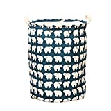 Rong Pop-Up Round Laundry Hamper Storage Washing Cleaning Bag Handles