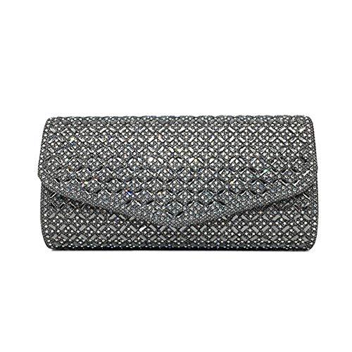 Strass Designer-handtasche (LUSESKY Frauen Abendtaschen Handtasche Designer Strass Kristall Clutch Abendtaschen Für Frauen Hochzeit Party Tasche Geldbörse)