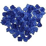 JUNGEN 1000Uds Pétalos de Rosa en Seda de Rosa Natural para Decoración Bodas Fiestas Confeti Tela Artificial Petalos De Rosa(Azul oscuro)