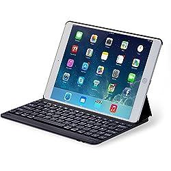 Mit unserer Sharon Schutzhülle werden Sie Ihr iPad Air im Alltag nicht mehr missen wollen! Unser Case bietet Ihnen neben der integrierten Tastatur mit Bluetooth folgende Funktionen:Displayschutz:  Zusammengeklappt ist das Display Ihres iPad Airs rund...