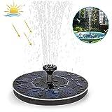 【Upgrade Solar Springbrunnen】Solar Teichpumpe Garten Wasserpumpe mit Lagerung-batterie, 2W Monokristalline Solar Panel, Schwimmender Dekoration für Kleiner Teich,...