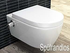 sp lrandloses taharet wc inkl armatur und abnehmbarer softclose sitz beschichtung dusch wc. Black Bedroom Furniture Sets. Home Design Ideas