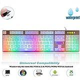 Mechanische Spiel Tastatur, Skiller Pro beleuchtete Programmierbare Gaming Tastatur, LED Hintergrundbeleuchtung, auswechselbaren Tasten, wasserdicht Mechanical Keyboard, Weiss