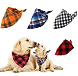 Afufu Pañuelo Baberos para Perros, 4 Piezas-4 Estilos Mascota Perro Gato Bandana Escocesa Cuadrado Pañuelo de Perro Bufanda para Mascota Perro Gato Pequeño Mediano Grande.