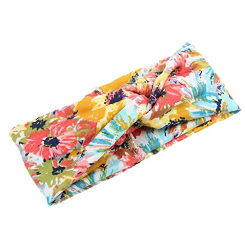Tonsee® Mode féminine Fleur Imprimé Printemps Twist Headband Turban Bandeau Mode féminine Fleur Imprimé Printemps Twist Hair Band Turban Bandeau