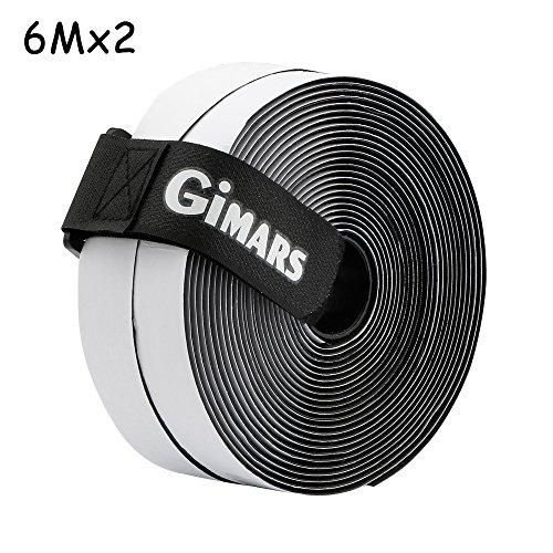 GIMARS [ 6M ] Klettband selbstklebend, Flausch & Haken, 20mm breit, inkl. ein Kabelbinder mit Schnalle, schwarz Test