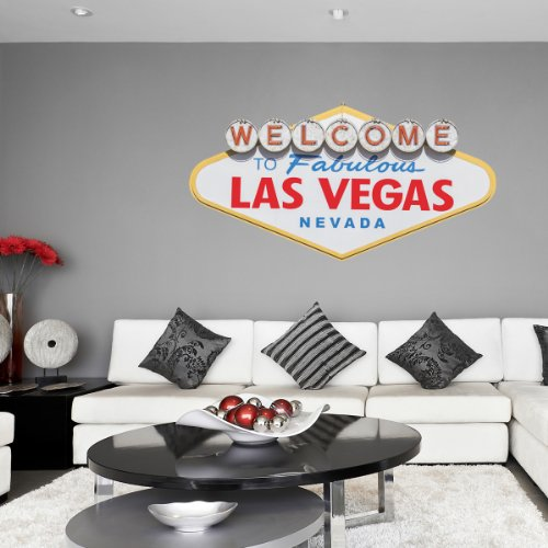 Großes Echt Bild Las Vegas Schild Famous Landmark Lounge Esszimmer Küche Flur Wohnzimmer Schlafzimmer Kinder Studie Bad Büro Wandtattoo Aufkleber Wall Art Vinyl Wall Mural (Usa Aufkleber Wandtattoo)