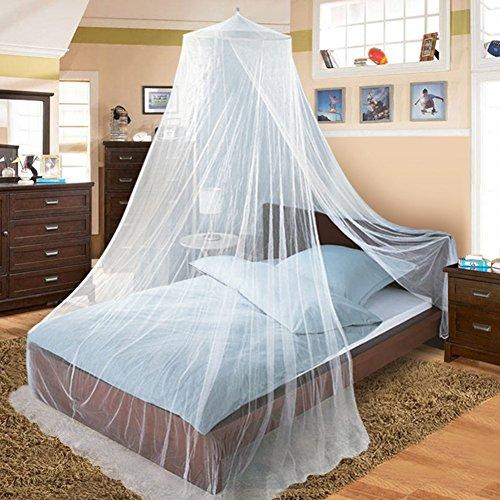 Moustiquaire de Lit Moustiquaire Filet Baldaquin Grande Moustiquaire 2.5mx12mx0.6m pour Lit Double - Contre Moustiques Insectes Idéal pour la Maison ou les Vacances (Blanc)