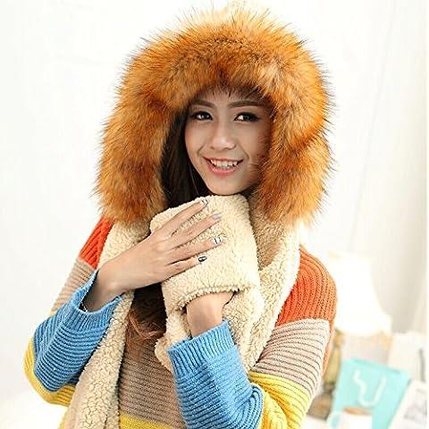 WJP sciarpa Hat guanti tre Kit pezzo coreano Onda a mano moda inverno cute calda lana lavorata a maglia cappelli insiemi W-525