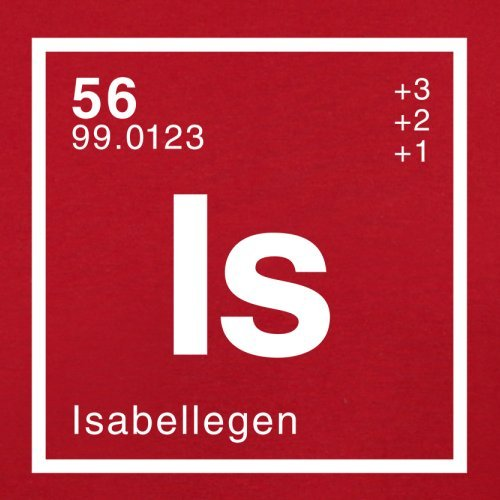 Isabelle Periodensystem - Herren T-Shirt - 13 Farben Rot