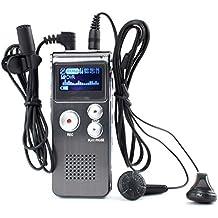 Grabadora De Voz Digital Display OLED 8GB USB MP3 Reproductor Dictáfono