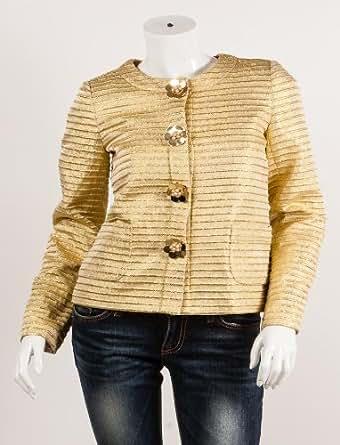 Tailleurs, vestes Manoush pour Mode femme, Modèle 7996 MANOUSH Veste Kennedy E1KEVE Femme Gold