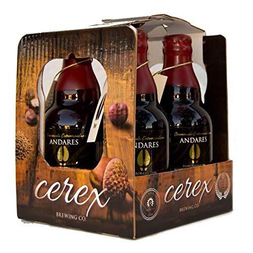 """CEREX - Pack 4 Bières Artisanales Espagnoles - Saveur Andares - Bières de 33cl - Meilleure Bière Artisanale Espagne Prix""""World Beer Awards 2017"""" - Pack Cadeau"""