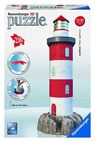 Preisvergleich Produktbild Ravensburger 12565 - Leuchtturm in der Brandung, 216 Teile 3D Puzzle-Bauwerke