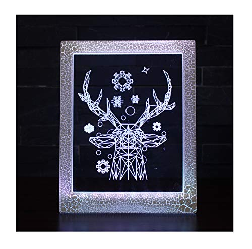 Magic Photo Frame Light, Stimmungslicht, kleine Tischlampe - 7 Farben Magic Light/Jugend-Nachttischlampe (Frame Magic Photo)