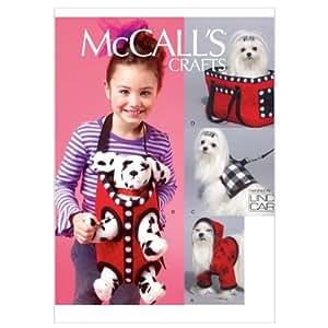 McCall's Patterns M6621 Patrons pour capuchon, harnais, laisse et sacs de transport pour chien Taille unique